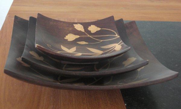 Square Plates in Mango Wood (Thailand) & Square Plates in Mango Wood (Thailand) | Stars of Asia