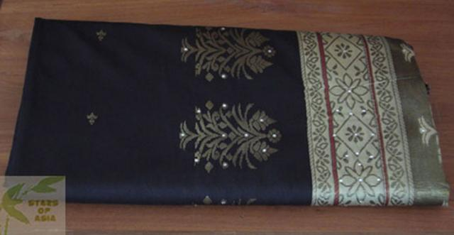 tissu de saree inde stars of asia. Black Bedroom Furniture Sets. Home Design Ideas